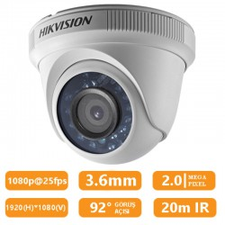 Haikon DS-2CE56D0T-IRP 2Mp 3.6Mm HD-TVI Dome Kamera